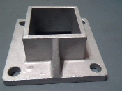 HR4 Square Floor Flange Heavy Duty