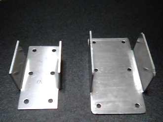 Aluminum Post Brackets with Flanges